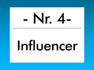 Buzzword des Monats Oktober 2017: Influencer