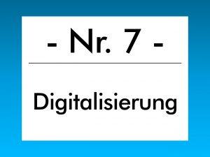 Buzzword des Monats im Januar 2018 ist der Begriff Digitalisierung